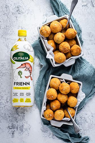 Le Polpette di Merluzzo e Patate di Pasquale Torrente e bottiglia di Frienn