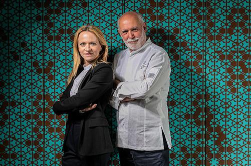 Lo chef Beppe Barone e la restaurant manager Stefania Lattuca
