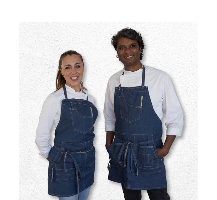 Gli chef Antonella Ricci e Vinod Sookar
