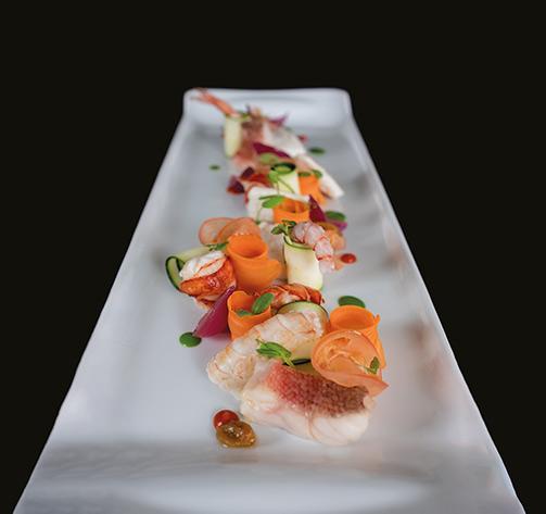 La Catalana di pesci e crostacei dello chef Umberto De Martino