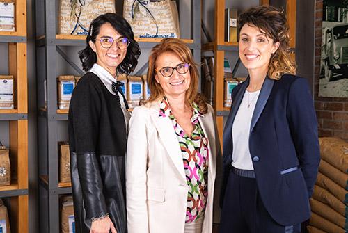 Nicoletta, Anna e Sara, le tre donne del CdA della Molino Moras