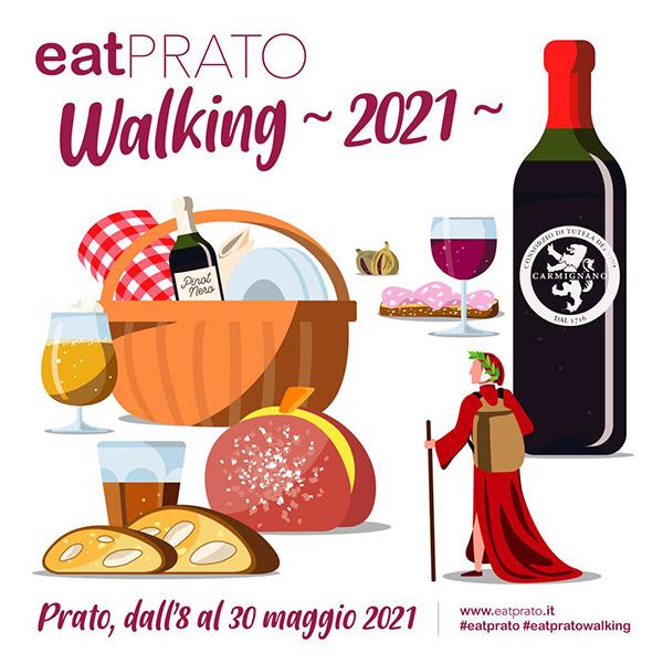 La locandina di EatPrato Walking 2021
